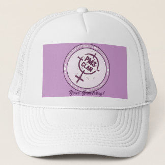 PMS Hat- Purple Logo 2 Trucker Hat