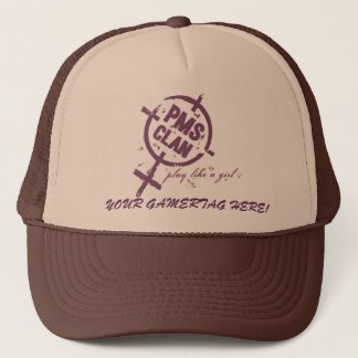 PMS Hat- Purple Logo Trucker Hat