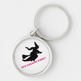 pms Silver-Colored round keychain