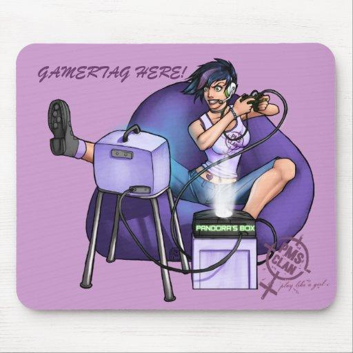 PMS Mousepad- Pandora's Box Purple