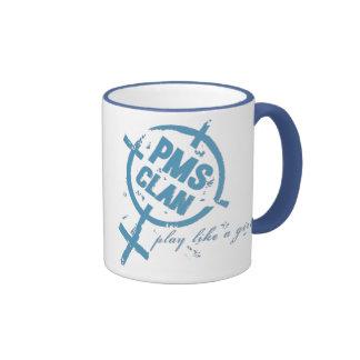 PMS Mug- Blue Logo Ringer Coffee Mug