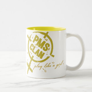 PMS Mug- Gold Logo Two-Tone Coffee Mug