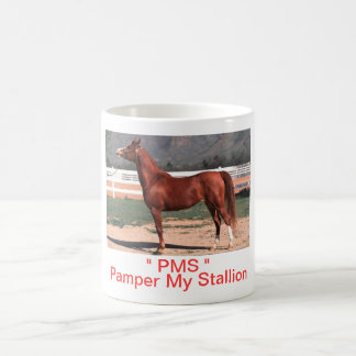 PMS Pamper My Stallion Sorrel Horse Coffee Cup