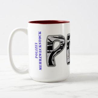 PMS - Police general-purpose stick Two-Tone Coffee Mug