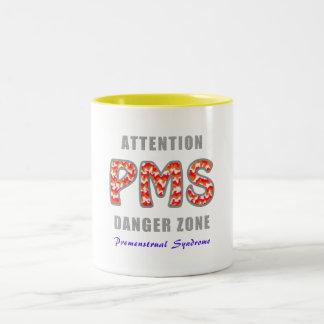 PMS - Premenstrual of syndromes Two-Tone Coffee Mug
