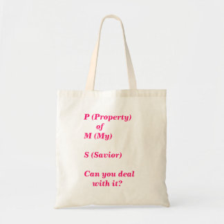 PMS  -Property of God Tote Bag