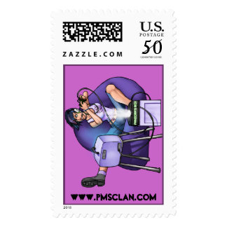 PMS Stamp- Pandora's Box Purple Postage
