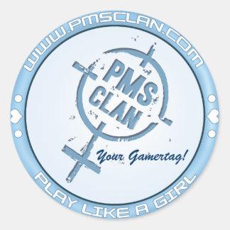 PMS Sticker- Blue Logo 2 Classic Round Sticker