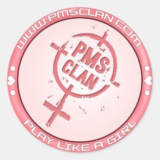 PMS Sticker- Pink Logo 2 Classic Round Sticker