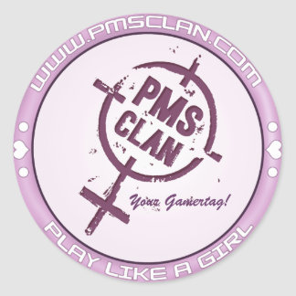 PMS Sticker- Purple Logo 2 Classic Round Sticker