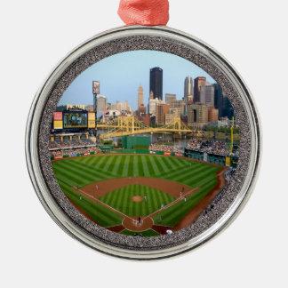 PNC Park-Pittsburgh-Christmas Ornament-Premium Round Metal Christmas Ornament