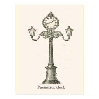 Pneumatic clock postcard
