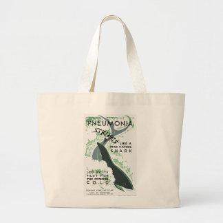 Pneumonia Strikes Large Tote Bag