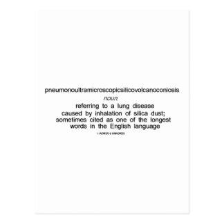 Pneumonoultramicroscopicsilicovolcanoconiosis Postcard