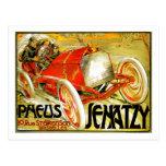 Pneus cansa el poster de Bruselas de la carrera de Tarjetas Postales
