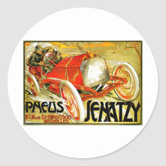 Pneus Tires ~ Senatzy Car Race Brussels Poster Sticker