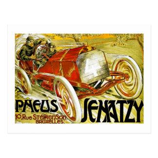 Pneus Tires,  Senatzy Grand Prix Bruxelles Postcard