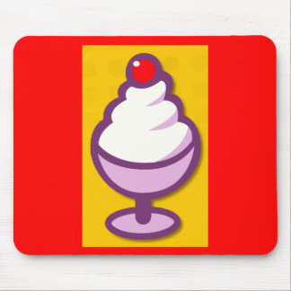 png_2299-Cartoon-Ice-Cream-Sundae-With-A-Cherry Mouse Pad
