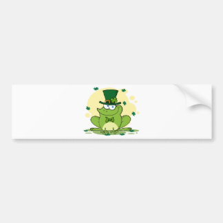 png_4678-Safe-Happy-Irish FROGGY FROG Clovers Bumper Sticker
