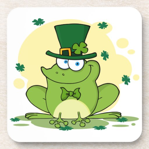 png_4678-Safe-Happy-Irish FROGGY FROG Clovers Drink Coaster
