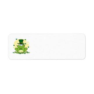 png_4678-Safe-Happy-Irish FROGGY FROG Clovers Custom Return Address Label