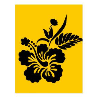 png_69-flowers- Hawaiian Hibiscus Flower Black Postcard