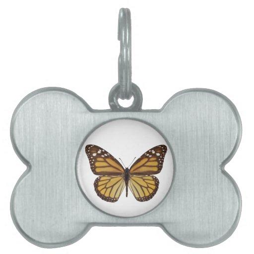 Png aislado de la mariposa de monarca placas de mascota