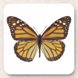 Png aislado de la mariposa de monarca posavaso