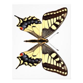 Png aislado de la mariposa del swallowtail membrete personalizado