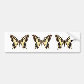 Png aislado de la mariposa del swallowtail pegatina para auto