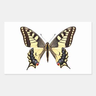 Png aislado de la mariposa del swallowtail pegatina rectangular