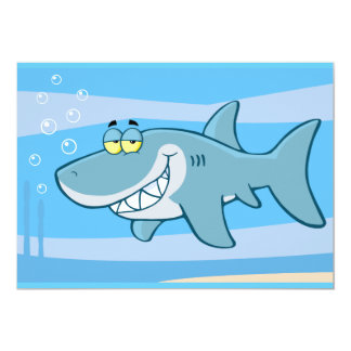 png_cartoon-shark-underwater Funny blue fish Card