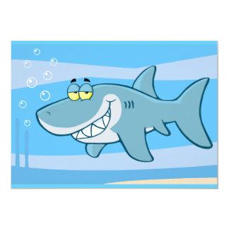 png_cartoon-shark-underwater Funny blue fish Card