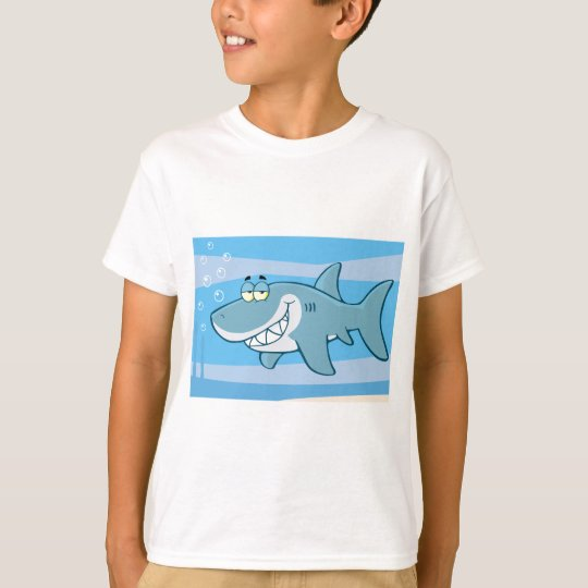 png_cartoon-shark-underwater Funny blue fish T-Shirt