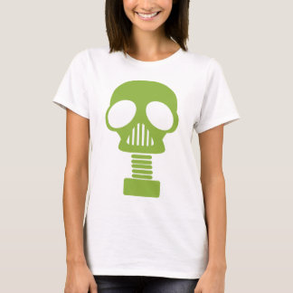 png_gas_mask_067 GREEN GAS MASK APOCOLYPSE  DANGER T-Shirt