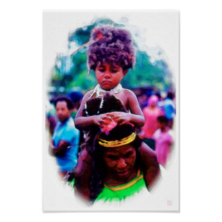 PNG Mother And Child - Watercolor Print