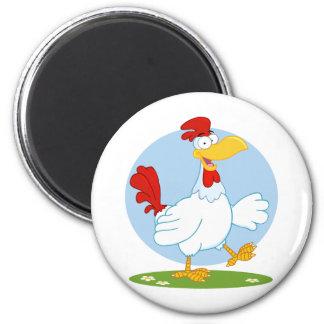 png_white-chicken CARTOON HEN CHICKEN FARM ANIMAL Magnet