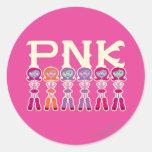 PNK - Estudiantes del susto Etiquetas Redondas