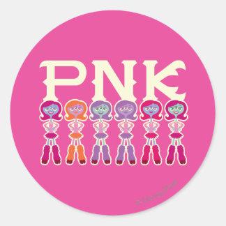 PNK - Estudiantes del susto Pegatina Redonda