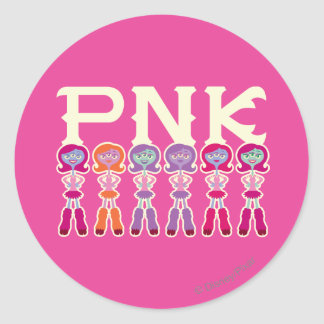 PNK - Scare Students Classic Round Sticker