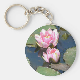 Pnk Water Lilies Keychain