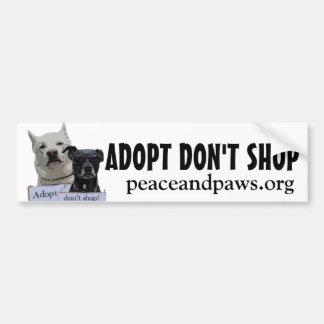 PNP Adopt Dont Shop bumper sticker Car Bumper Sticker