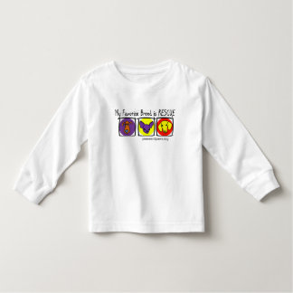 PNP Kids My Favorite Breed is Rescue Toddler T-shirt