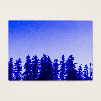 PNW Trees (purple) Chubby Business Card