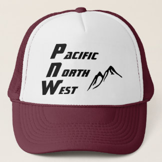 PNW Trucker Hat Vertical Lettering