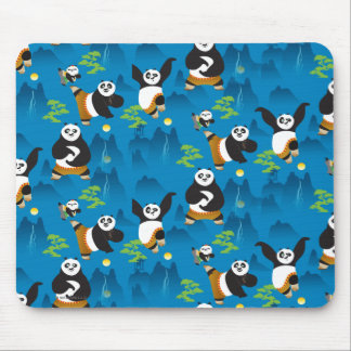 Po and Bao Blue Pattern Mouse Pad