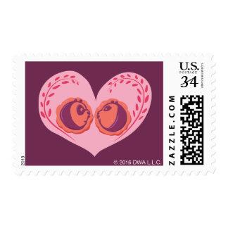 Po and Mei Mei in Heart Postage