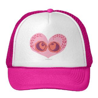 Po and Mei Mei in Heart Trucker Hat