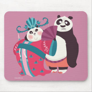 Po and Mei Mei Mouse Pad