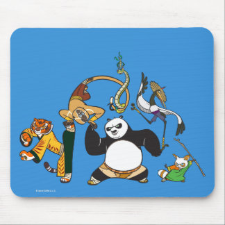 Po and the Furious Five Mouse Pad